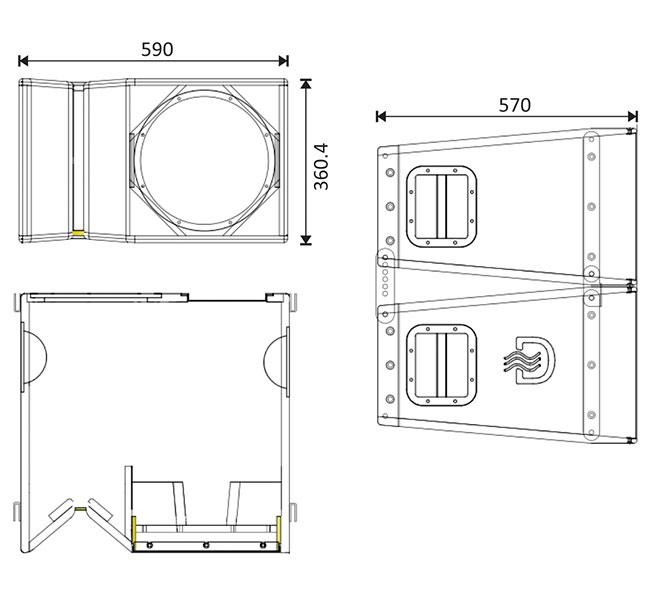 empty line array cabinets plans to build la112 line array