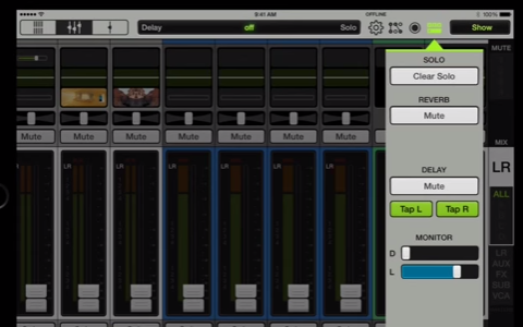 Mackie Master Fader - Video - Quick Access Panel