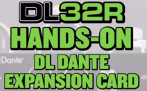 Mackie DL32R - Video - DL Dante Expansion Card Overview